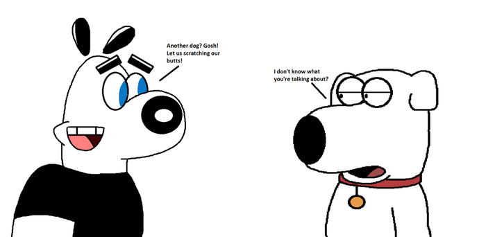 Dudley Puppy meets Brian Griffin by MarcosPower1996