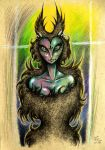 Cat- owl lady by WolfGrin1