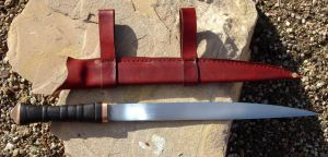 Seax and Leather Sheath by HellfireForge