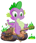 Spike destroying a tank by waffengrunt
