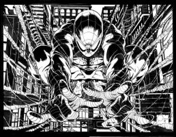 spiderman inked by darnet