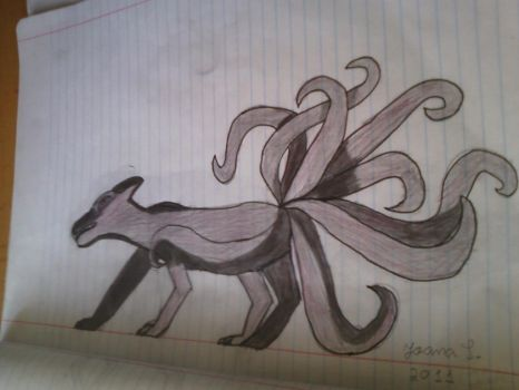 Nine Tailed Fox by vocaloidanimelover1
