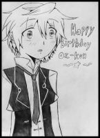 Oz Vessalius | Happy birthday~ by TrainerHarmony