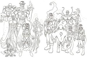 THE INFINITY MEN rogues gallery by BLUEHAWK-55