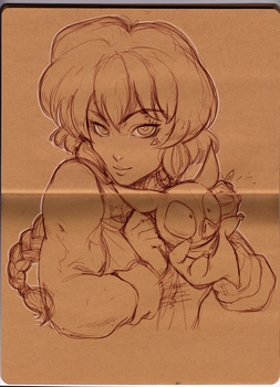 Ranma scribble by Lean13