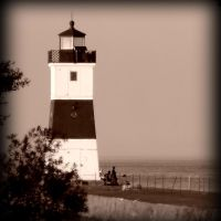 Lighthouse Sepia by KCJoughDoitch