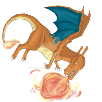 Charizard's Flame Burst by ThatDenver