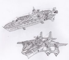 2 types of battleships by Muramasa91