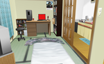 MMD Small Apartment room by amiamy111