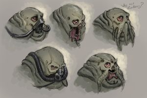 Let's do Doom: Extra - Mancubus head scetches by Mechanubis