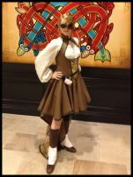 Steampunk Brown Map Dress 1 by Mink-the-Satyr