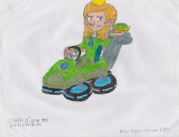Amande in Mario Kart 8 by Ask-rikal-the-cat
