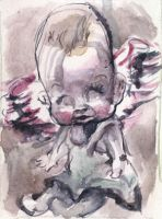 Winged Baby aceo by ChloeC