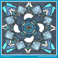 Why So Blue Mandala by Quaddles-Roost