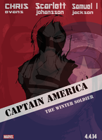 Poster Captain America The Winter Soldier by Andrew-Stealfh
