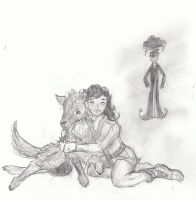 Daine and Brokefang by k80soccer