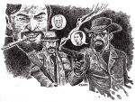 DJANGO UNCHAINED poster ink by RADMANRB