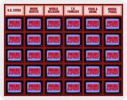 Jeopardy! board before dollars load by wheelgenius