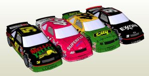 Days of Thunder Paper Model Pack by Master-Bruce
