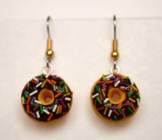 Doughnut Earrings by PaleMint