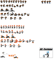 Ghost Rider's Sprite Sheet by tombstalker
