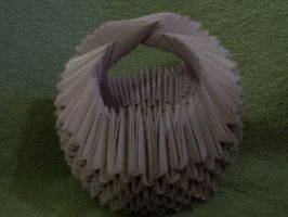 Purple 3D Origami Basket by Rescue-Is-Possible