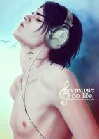 no music, no life by chouette-e