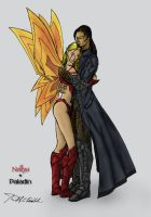 Nellya and Paladin - Color by kgcreative