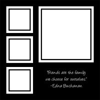 black and white family quote scrapbook quickpage by tash11