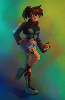 Elf Girl With Apple by WhispersInTheMirror