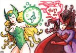 Enchantress vs Scarlet Witch by tdastick