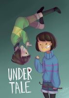 chara and frisk by CanIHasPie