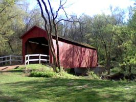 The Beautiful Sandy Creek Covered Bridge by MSKM2001