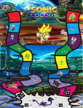 Sonic Colors The board Game by ultrasupersonic