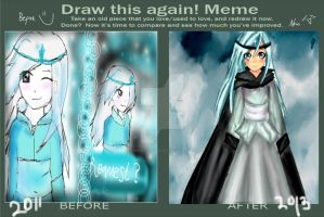 Redrawing meme. How moi improved by XMajutsu-shiX