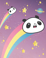 Panda Wishing Stars by Panduhmonium
