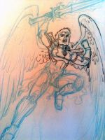 Angel Warrior_sketch by tombancroft