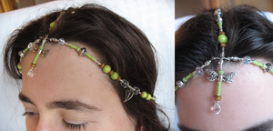 Headpiece 5: Green Dragonfly by sampdesigns