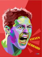 Steven Gerrard on WPAP by Bastianfield