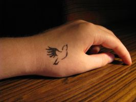 Bird Tattoo by Santin15