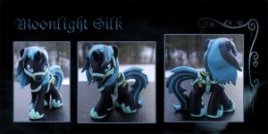 My Little Pony Moonlight Silk OC Blindbag Custom by kaizerin