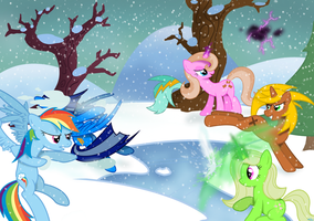 Fight for Snow by csillaghullo