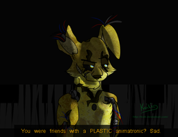 FNaF - Golden Bonnie : The Jerk by Koili