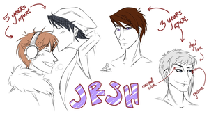 JRSH sketches by Fayolinn