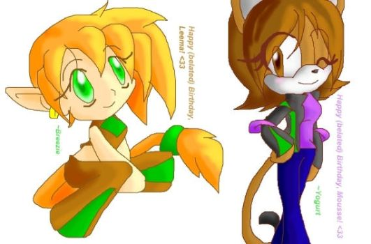 -BD08- Leema and Mousse by SonAmyForever
