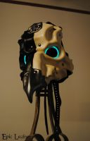 Leather Avian Plague Doctor Mask - Glow by Epic-Leather