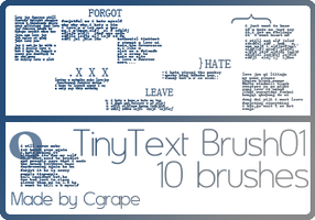 TinyText Brush_Cgrape by cgrape