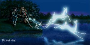 Severus and Lili Patronus by jen-and-kris