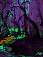 Carnivorous Forest Glowing. by lnfectedxangelic