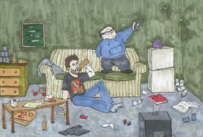 Frank and Charlie by bitterfly